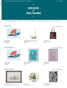 Screenshot of House of Voltaire website