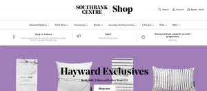 Screenshot of Southbank Centre website
