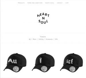Screenshot of the Heart n Soul Website