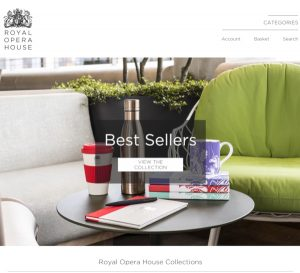 Screenshot of the Royal Opera House Website