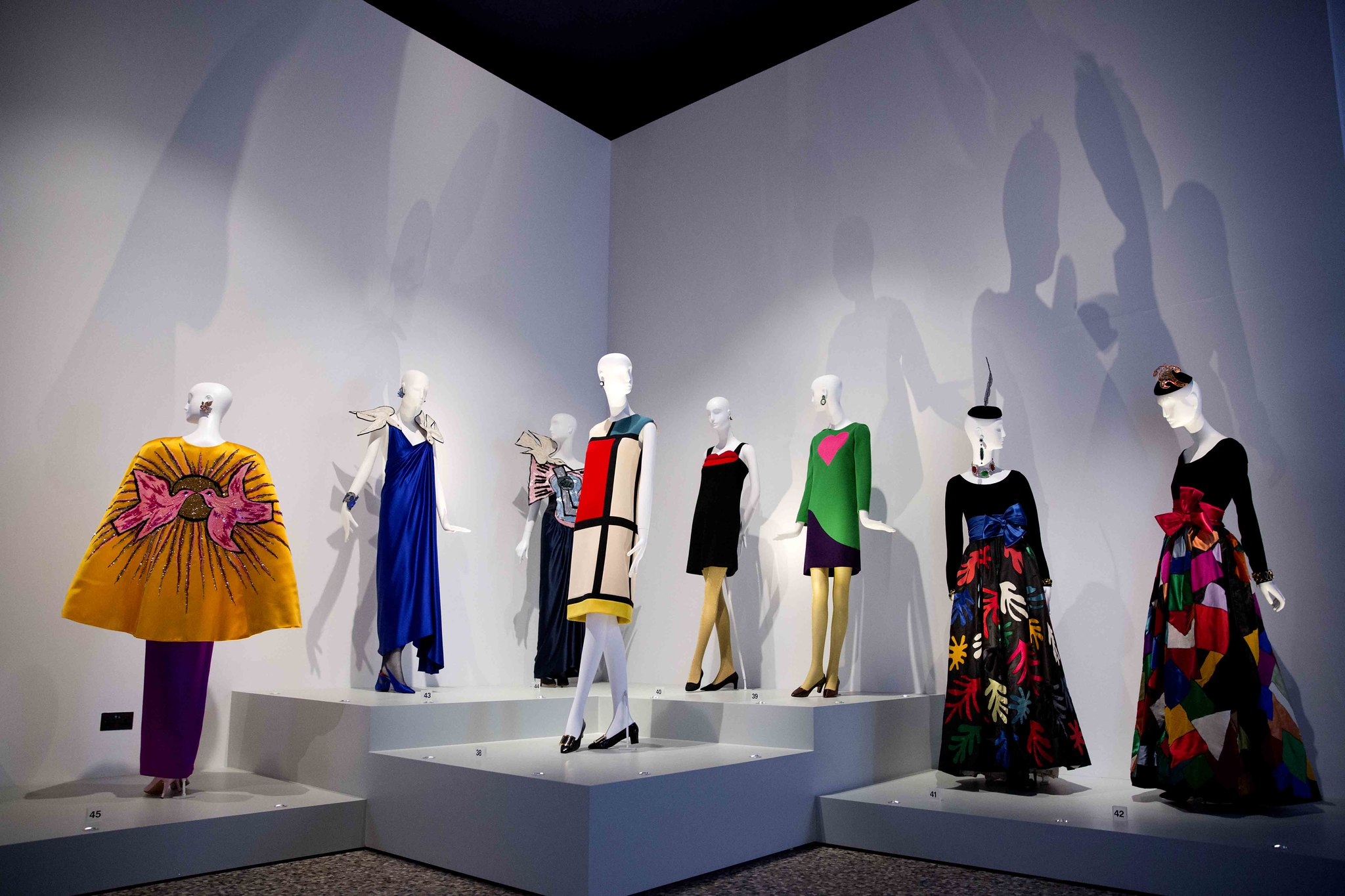 Image of the Yves Saint Laurent exhibition at The Bowes Museum