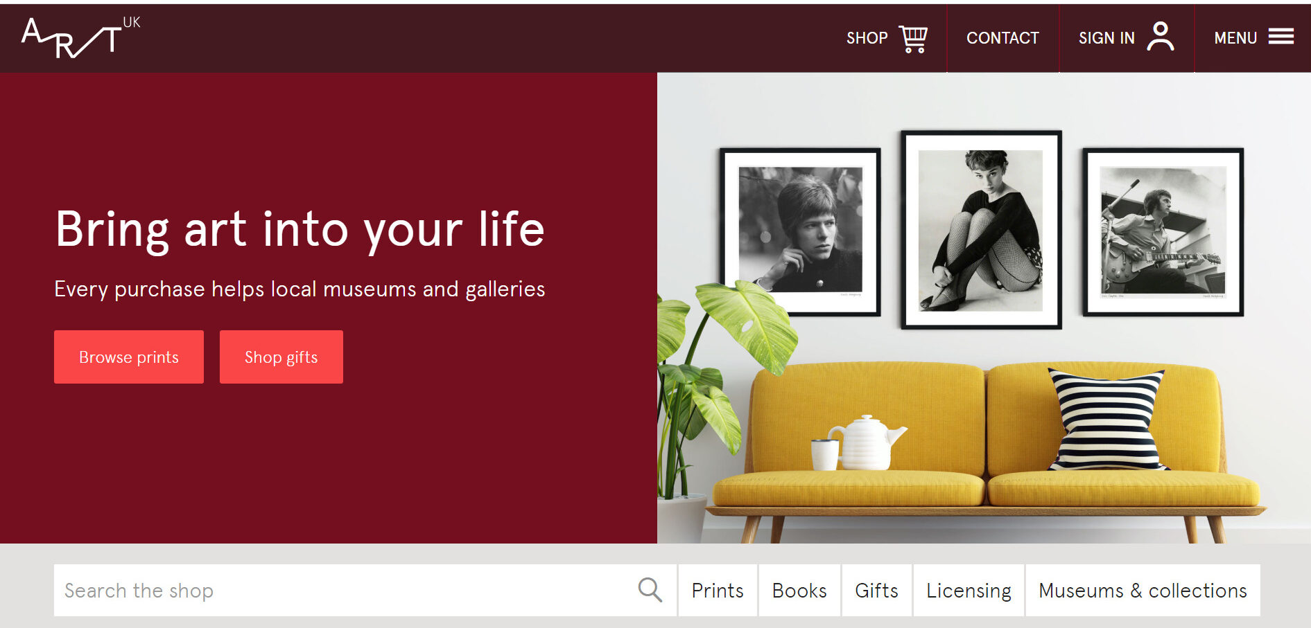 Art UK website homepage