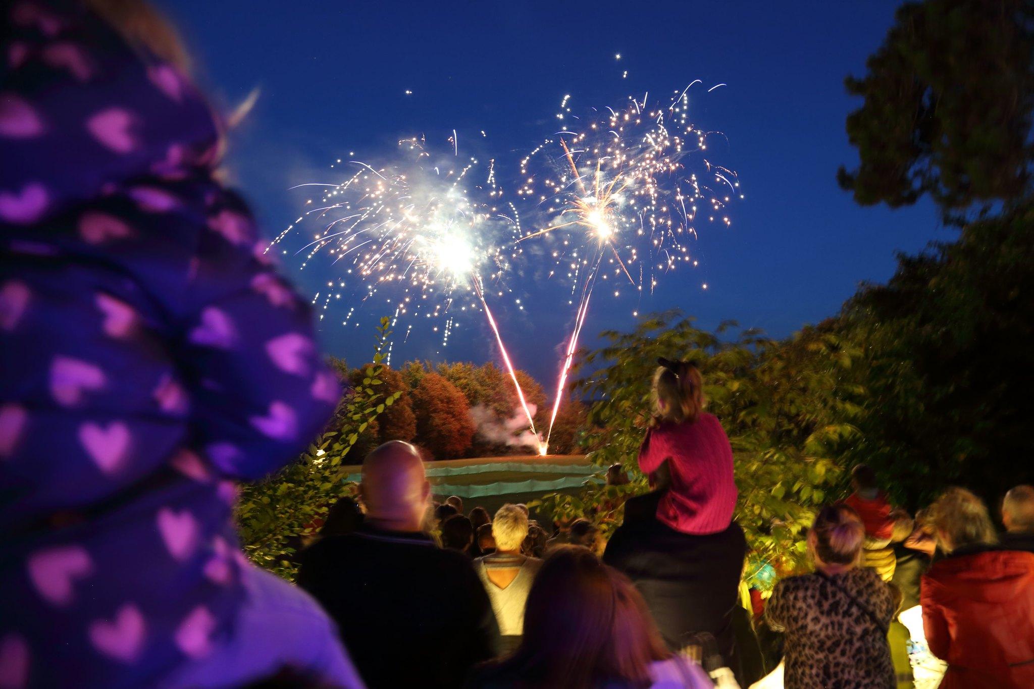 Fireworks display at festival of light