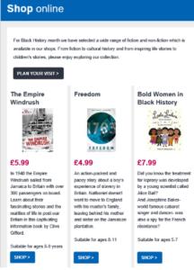 Screenshot of museum of London newsletter