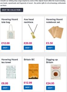 Screenshot of Museum of London marketing email