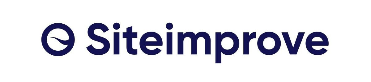 Siteimprove logo in white and navy